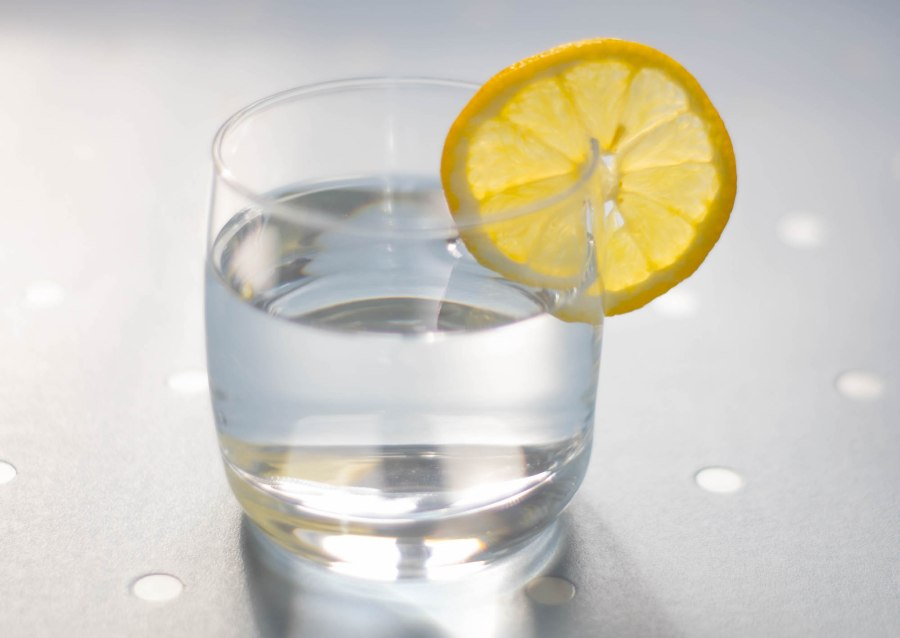 Glass of Water and Lemon web