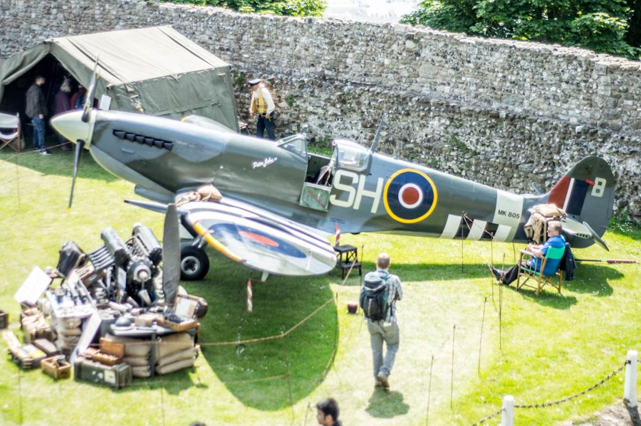 Spitfire at Dover Castle Colour-1